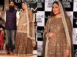 Kareena kapoor turns showstopper for Sabyasachi Mukherjee