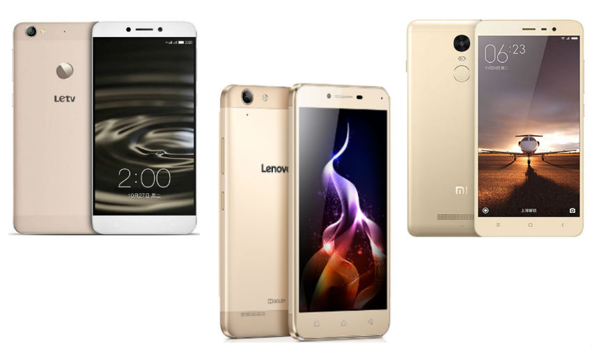 Xiaomi Redmi 3s Prime vs Lenovo Vibe K5 Plus vs Coolpad Note 3 Plus
