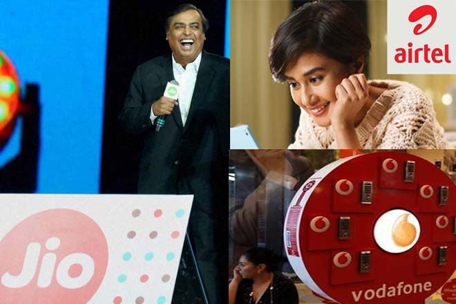 Bharti, Idea fall Ambani announces Reliance Jio tariff