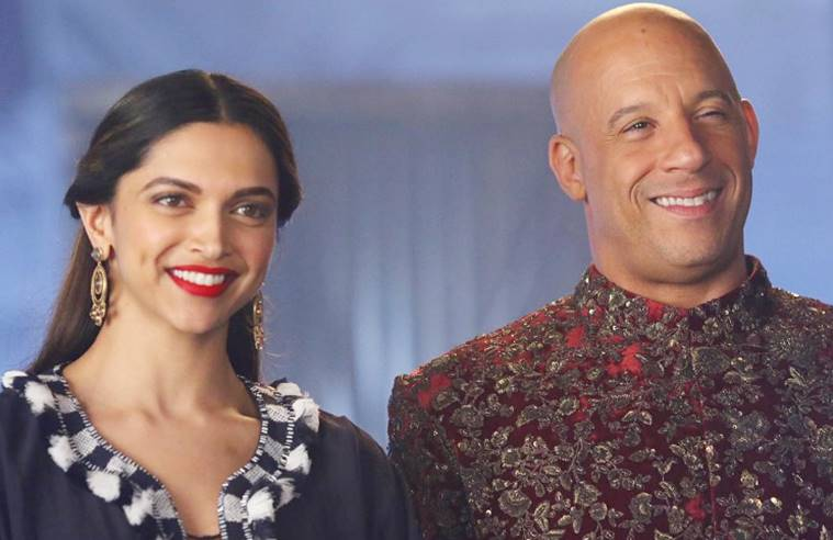 deepika-padukone-vin-diesel-in-indian-outfit