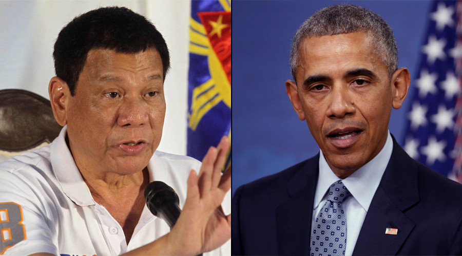 Philippines president Rodrigo Duterte abuses Barack Obama