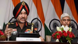 New Delhi: Director General Military Operations (DGMO), Ranbir Singh salutes after the Press Conferences along  with External Affairs Spokesperson Vikas Swarup,  in New Delhi on Thursday. India conducted Surgical strikes across the Line of Control in Kashmir on Wednesday night. PTI Photo by Shirish Shete (PTI9_29_2016_000022B) *** Local Caption ***