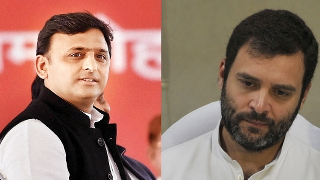 Akhilesh Yadav praises Rajhul Gandhi before UP Elections