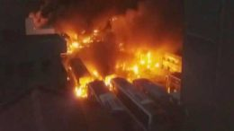karnataka-buses-set-on-fire-in-bangalore