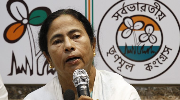 All India Trinamool Congress candidate Mamata Banerjee speaks during a press conference in Kolkata, India, Thursday, May 19, 2016. India's ruling Hindu nationalist has made dramatic gains in elections in the eastern state of Assam but trails in four other states that went to polls earlier this month. In West Bengal, Tamil Nadu and Kerala states local parties dominated the scene. The Congress party was in the lead in the state of Pondicherry. (AP Photo/ Bikas Das)