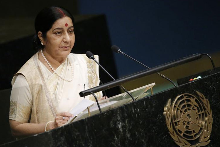 Sushma swaraj addressing at UNGA