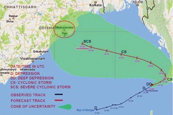 Kyant Cyclone in Odisha likely to hit in 24 hours