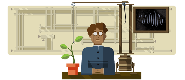 Google doodle celebrates birthday of scientist Jagdish Chandra Bose