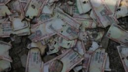 Black money burnt in Bareilly