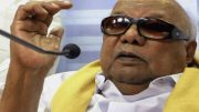 DMK Chief Karunanidhi admitted to hospital for throat and lung infection