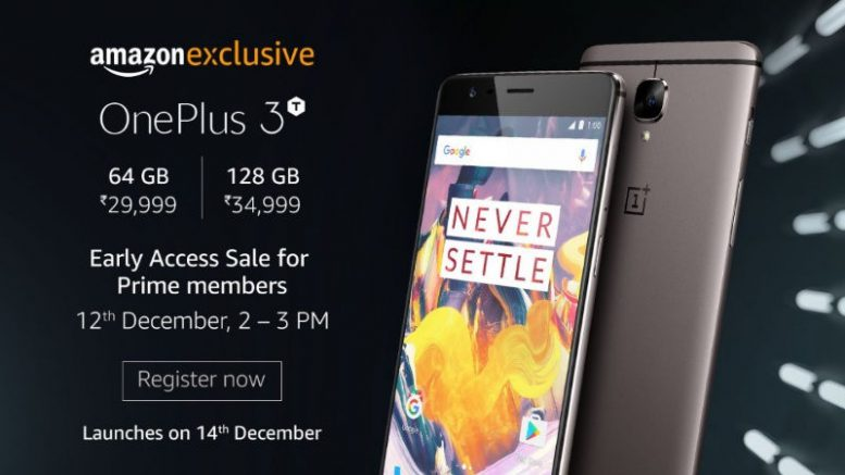 Amazon Prime members can buy the One Plus 3T today