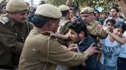 Ramjas College protest Clashes between ABVP, DU students, cops crack down