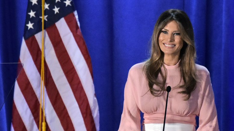 Melania Trump champions women – not easy when you're you-know-who's wife