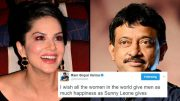 Sunny Leone reacts to Ram Gopal Varma's tweet