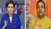 Nidhi Razdan of NDTV throws out Sambit Patra from her show