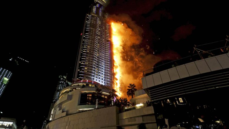 Dubai: fire ripped through one of the world's tallest residential tower