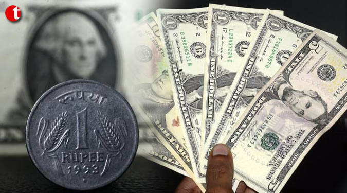 Rupee gains 5 paise against US dollar
