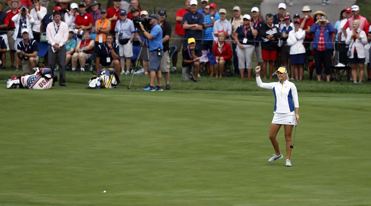 one-point lead in Solheim Cup