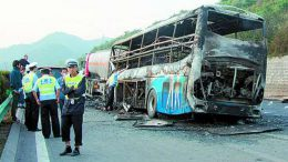 China: Bus crash in Shaanxi province