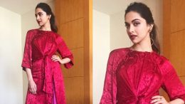 Deepika Padukone's colour blocking game at her Oppo F3