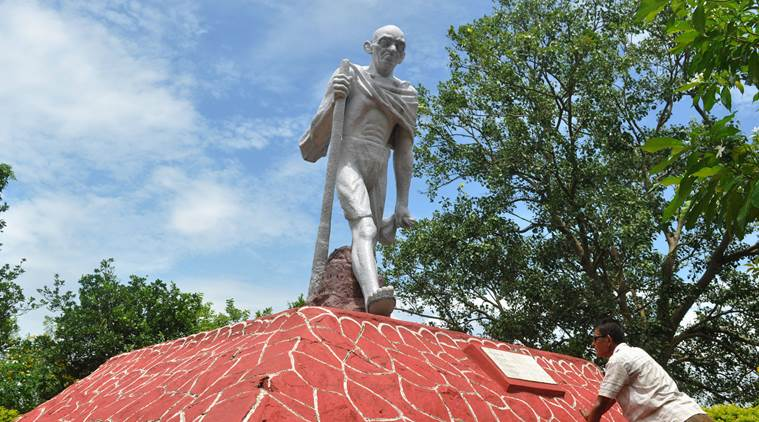"officials in Assam have decided to ""replace"" a statue in Guwahati of Mahatma Gandhi created by one of India's finest sculptors"