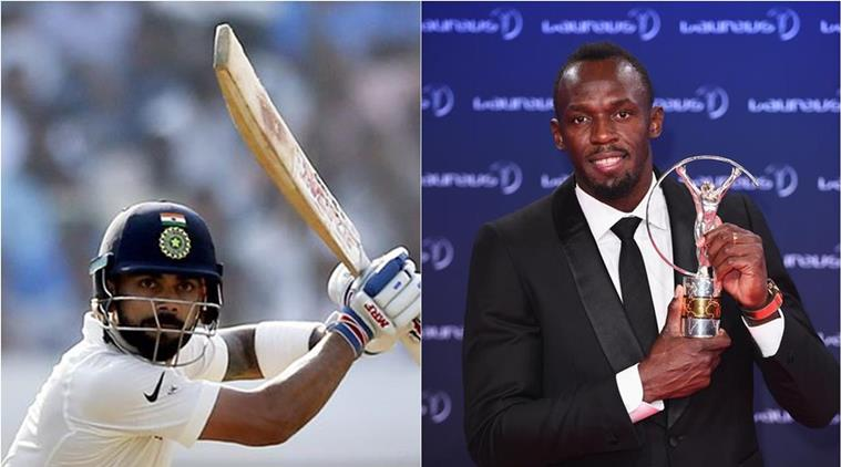 Kohli to Usain Bolt:If you want to play cricket, you know where to find me