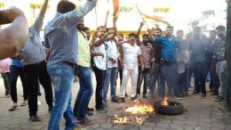 Members of the Youth Congress vandalise IT office