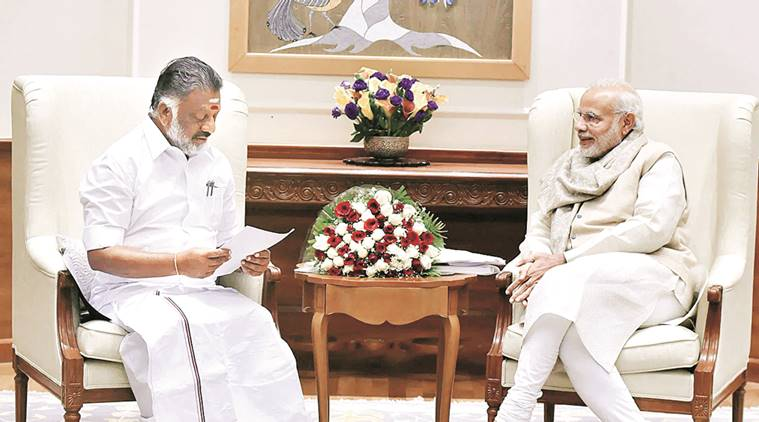 Panneerselvam meets Modi, for AIADMK Unification