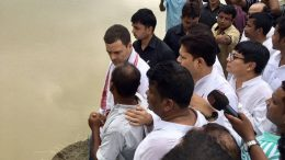 Rahul Gandhi in Assam; vows to fight for rights of flood-hit people