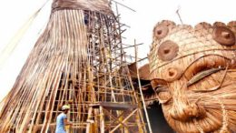 Goddess Durga all set to enter Guiness Book of Records as world's tallest bamboo structure