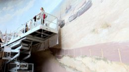 World's oldest panorama painting, on a Netherlands beach.See pics