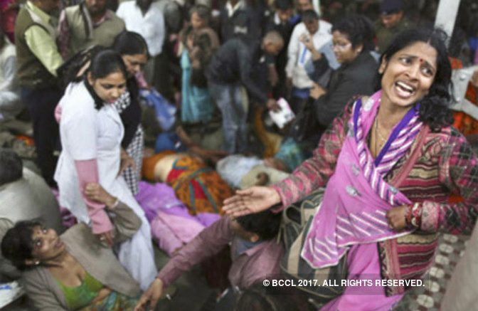 Elphinstone railway station stampede leaves 60 injured and 22 dead
