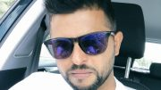 Suresh Raina escapes unhurt after tyre burst