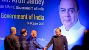 Finance Minister Arun Jaitley inaugurates 'cashless visa service' to Bangladeshi visa applicants