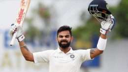 Kohli 1st international captain to hit 3 tons in 3-match series