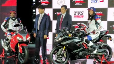 TVS Apache RR 310 at Rs 2.05 lakh, claims top speed of 160 kmph