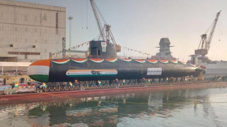 INS Karanj, Third Scorpene Class Submarine, Launched by Indian Navy