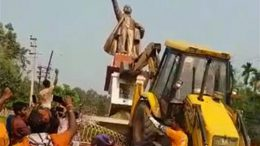 After BJP wins 43 seats,Tripura Violence, Lenin Statue brought down by BJP workers