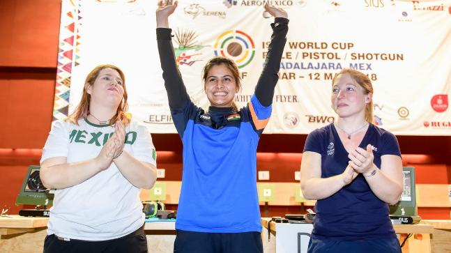 Manu Bhaker wins second gold at Shooting World Cup
