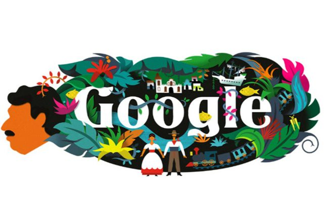 Google celebrates author Gabriel García Márquez's 91st birth anniversary with a colourful doodle